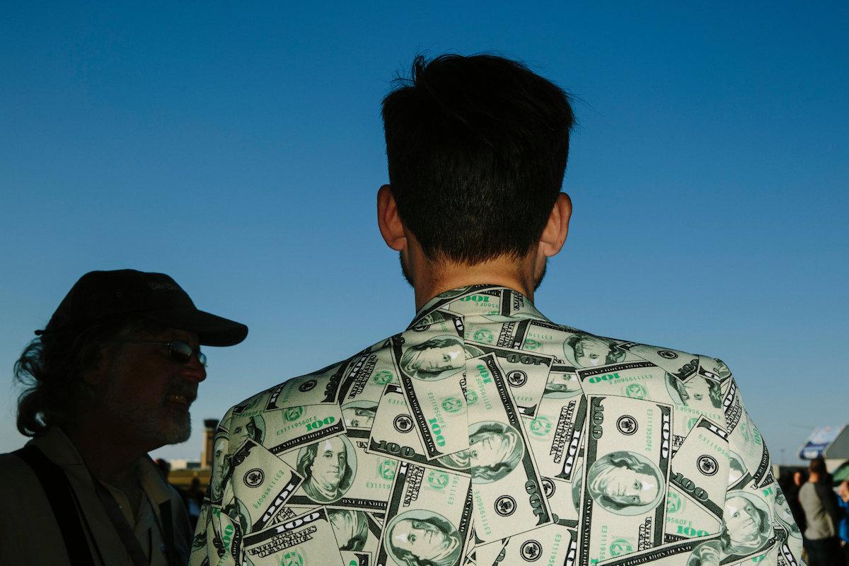 Jacket of cash