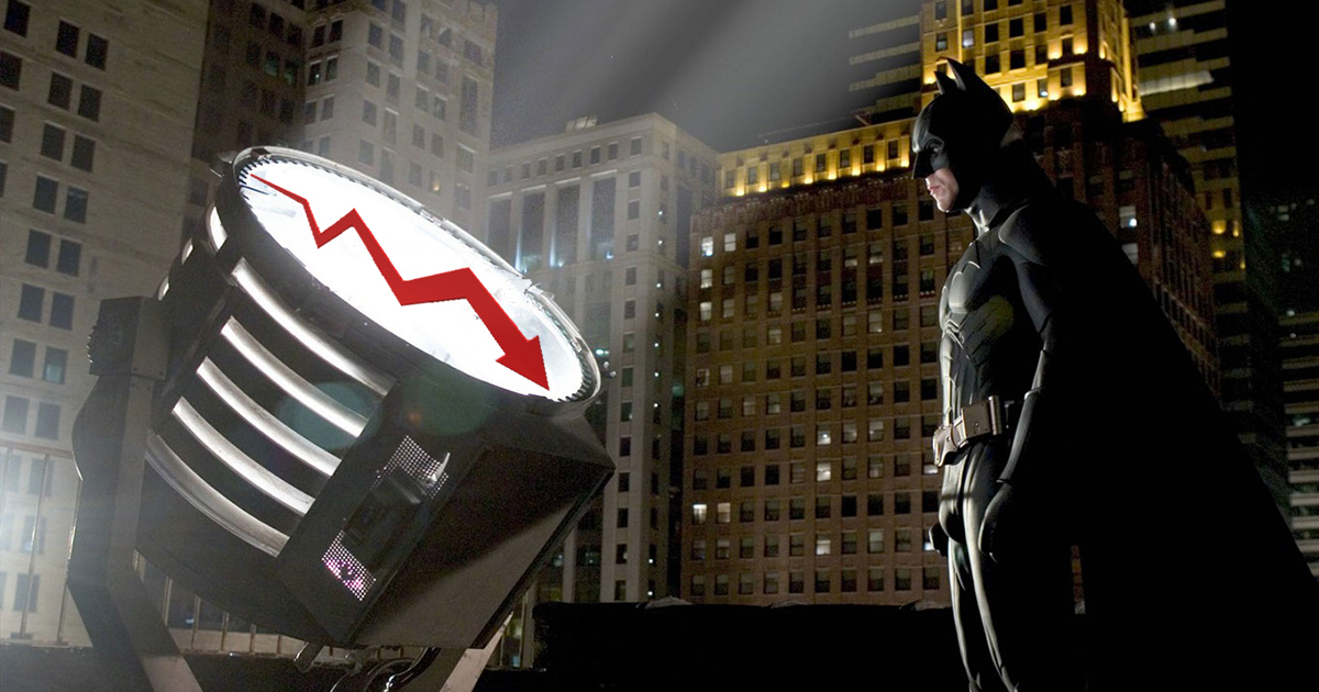 Batman signaled to rescue down economy