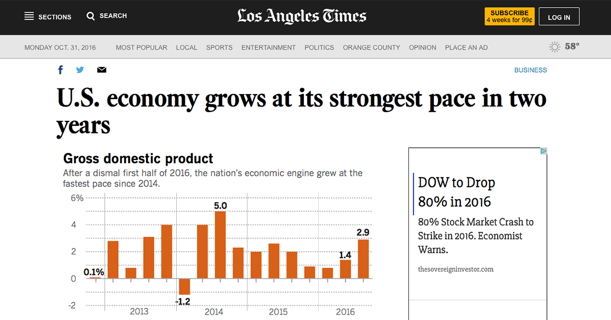Economy grows at fastest pace