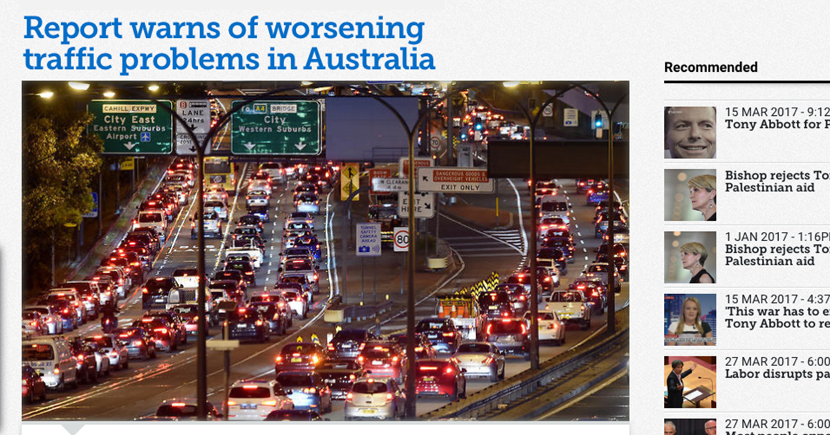 Sydney traffic jam