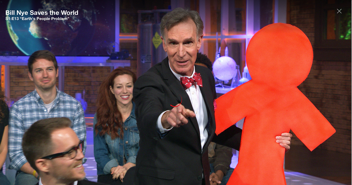 Bill Nye on stage